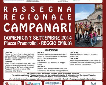 7 settembre 2014 – Rassegna Campanari in Piazza Prampolini (Reggio Emilia)