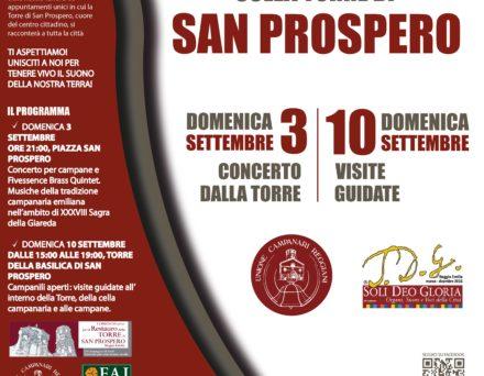 Settembre 2017: l'Unione Campanari Reggiani sostiene le iniziative per il restauro della Torre di San Prospero
