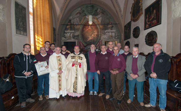 Aprile 2014 – Incontro con Mons. Vescovo e Benedizione Papale